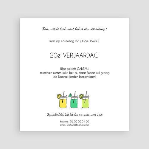 Meerderjarig Uitnodigingen Verjaardag Summer Limonade Party pas cher