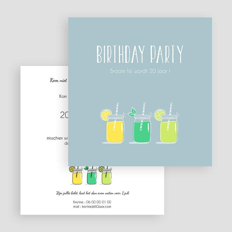 Meerderjarig Uitnodigingen Verjaardag Summer Limonade Party gratuit