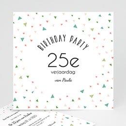 Uitnodiging Anniversaire adulte 25e verjaardag