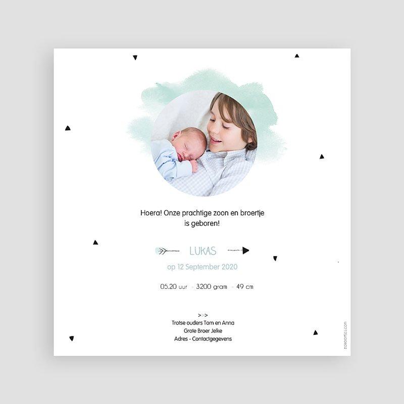 Geboortekaartje jongen - Kleine Broer 53927 thumb