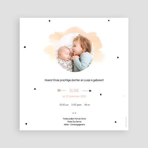 Geboortekaartje meisje - Kleine Zusje 53936 thumb