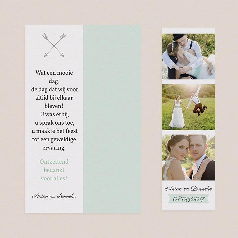 Bedankkaartjes huwelijk Romance pas cher