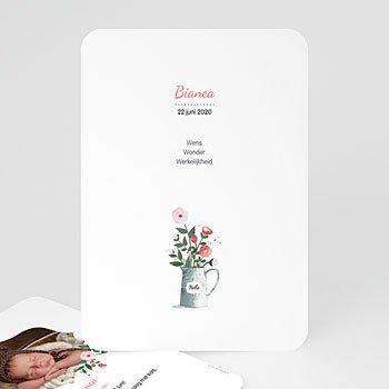 Geboortekaartje meisje Romantisch boeket