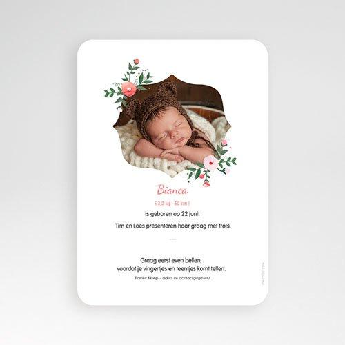 Geboortekaartje meisje - Romantisch boeket 54053 thumb