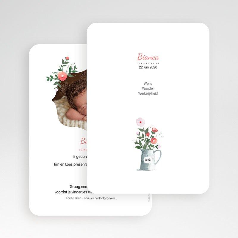 Geboortekaartje meisje - Romantisch boeket 54054 thumb