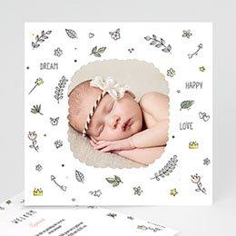 Geboortekaartje meisje - Baby dreams - 0