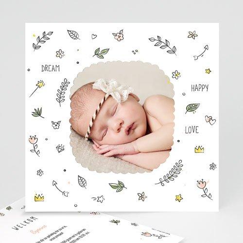 Geboortekaartje meisje - Baby dreams 54079 thumb