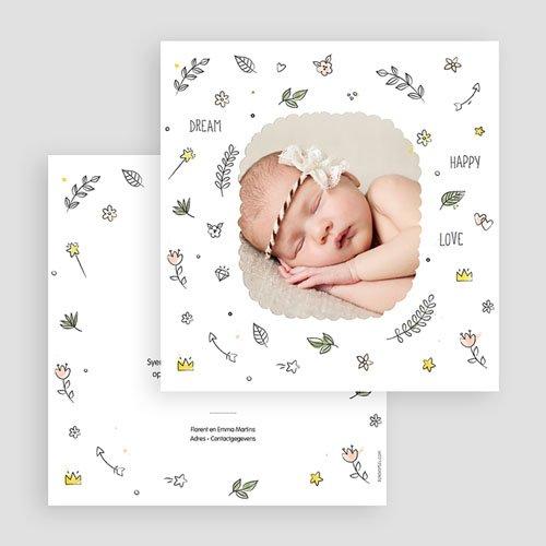 Geboortekaartje meisje - Baby dreams 54081 thumb