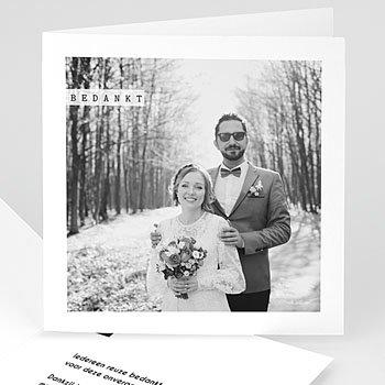 Bedankkaartjes huwelijk - So simple - 0