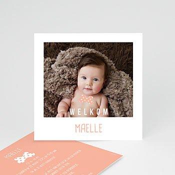 Geboortekaartje meisje - Instant camera - 0