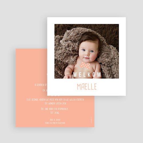 Geboortekaartje meisje - Instant camera 54125 thumb