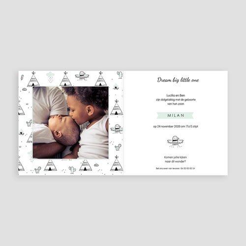 Geboortekaartje jongen - Little Indian 54132 thumb