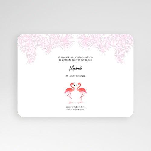 Geboortekaartje meisje - Flamingo addict 54141 thumb