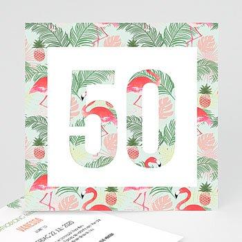 Verjaardagskaarten volwassenen - Tropical party - 0