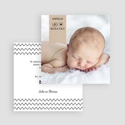 Bedankkaartje geboorte zoon - Handgemaakte 54196 thumb