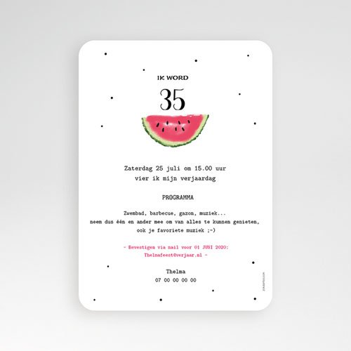 Verjaardagskaarten volwassenen - Watermeloen 54210 thumb
