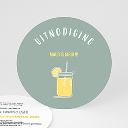 Uitnodiging Anniversaire adulte Limonade