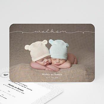 Geboortekaartjes tweelingen - Tweeling baby - 0
