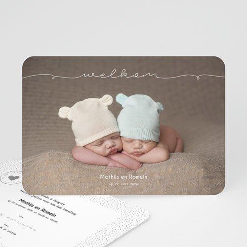 Geboortekaartjes tweelingen - Tweeling baby 54236 thumb