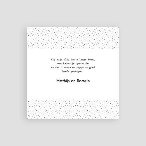 Bedankkaarten geboorte - Tweeling baby 54246 thumb