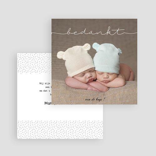 Bedankkaarten geboorte - Tweeling baby 54247 thumb
