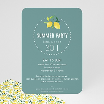 Verjaardagskaarten volwassenen - Lemon Summer Party - 0