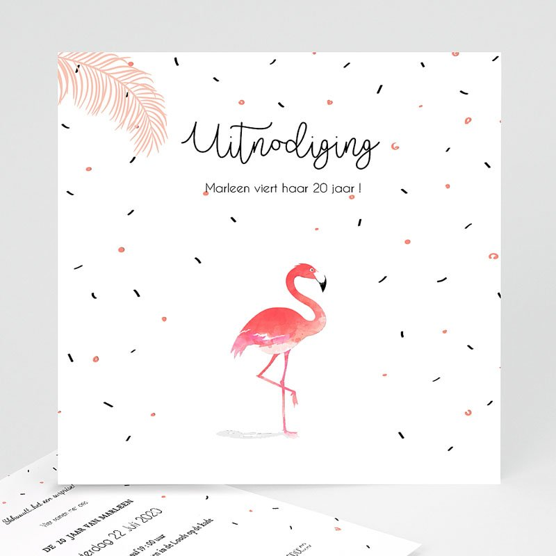 Verjaardagskaarten volwassenen - Let's flamingle 54335 thumb