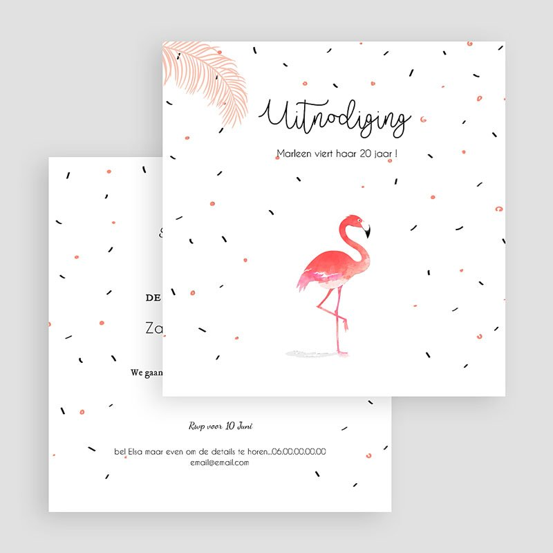 Verjaardagskaarten volwassenen - Let's flamingle 54337 thumb