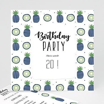 Verjaardagskaarten volwassenen - Blauw ananas - 0