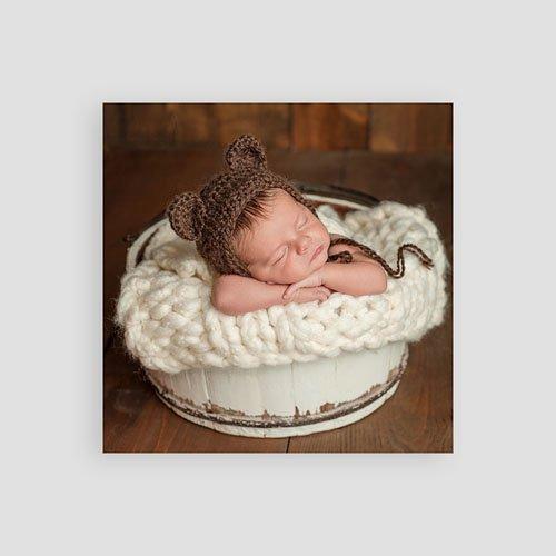 Bedankkaartje geboorte zoon - Vintage Konijn 54354 thumb