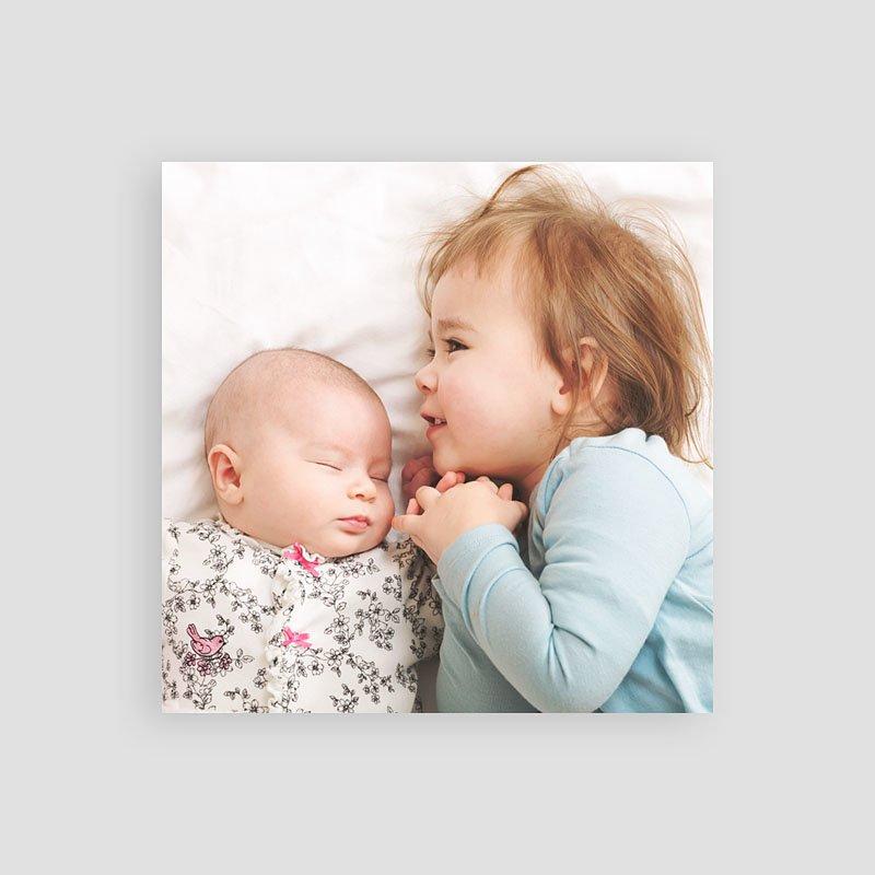 Bedankkaartje geboorte dochter - Pinguin 54363 thumb