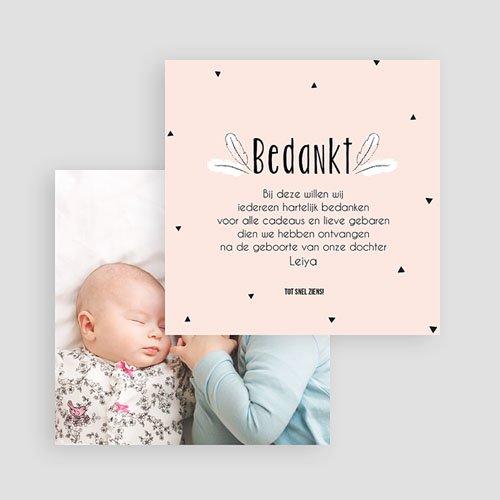 Bedankkaartje geboorte dochter - Pinguin 54364 thumb