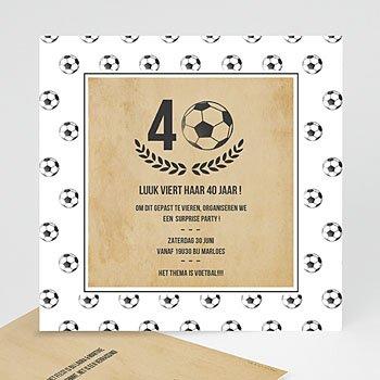 Verjaardagskaarten volwassenen - Voetbal party - 0