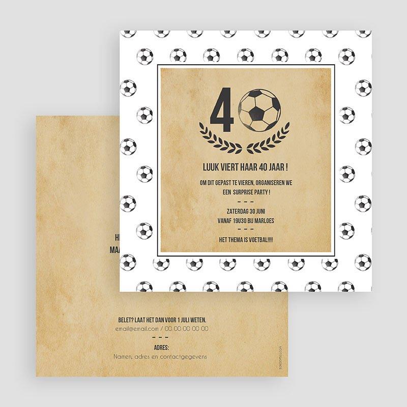Verjaardagskaarten volwassenen - Voetbal party 54408 thumb