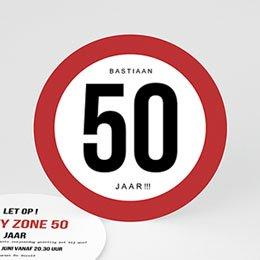 Uitnodiging Anniversaire adulte Maximum snelheid 50