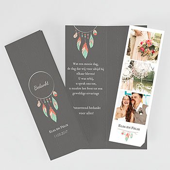 Bedankkaartjes huwelijk - Zoals Een Droom - 0