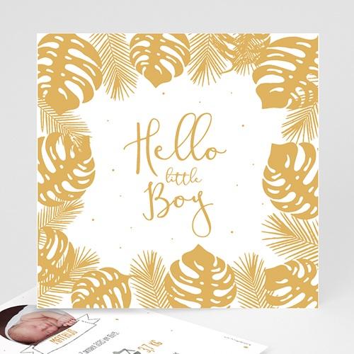 Geboortekaartje jongen - Tropical Gold 54736 thumb