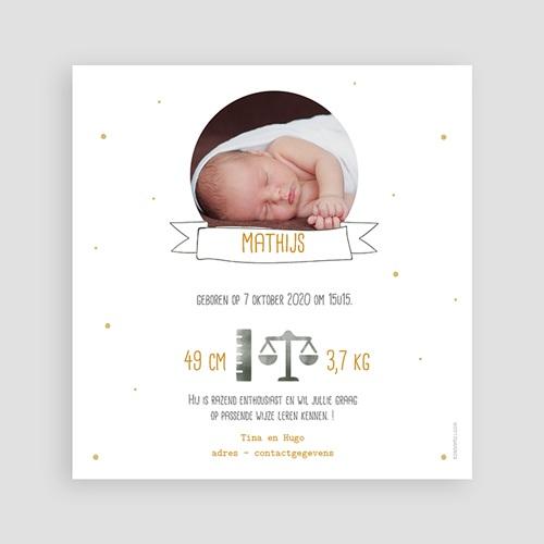 Geboortekaartje jongen - Tropical Gold 54737 thumb