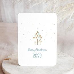 Professionele wenskaarten Nouvel An Aquarel kerstbomen