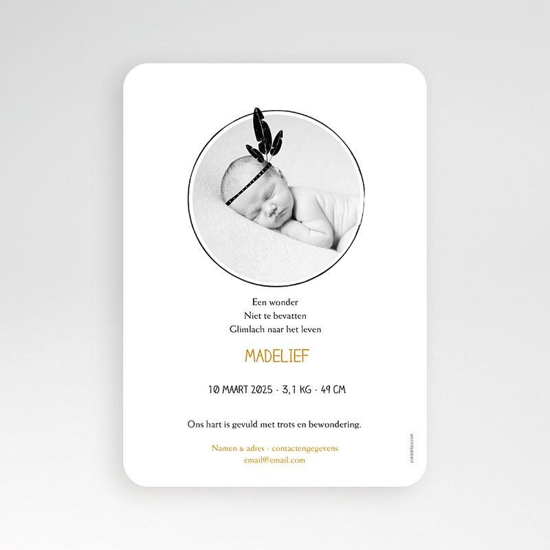 Geboortekaartje meisje - Little squaw in gold 54788 thumb