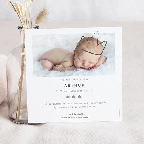 Geboortekaartje jongen - Gouden kronen 54978 thumb