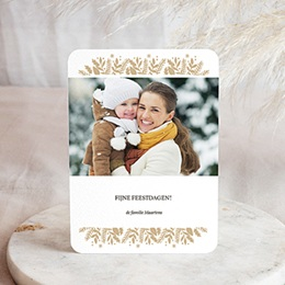 Wenskaarten Kerst Chique Goudfolie