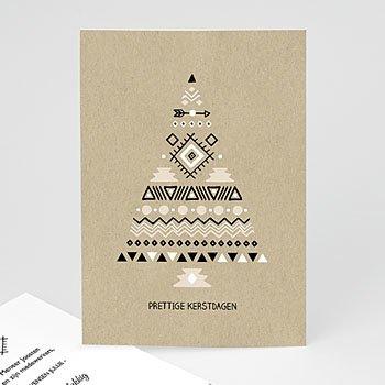 Professionele wenskaarten - Ethnic Xmas tree - 0