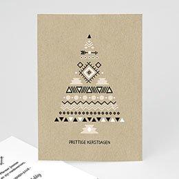 Professionele wenskaarten Kerst Ethnic Xmas tree