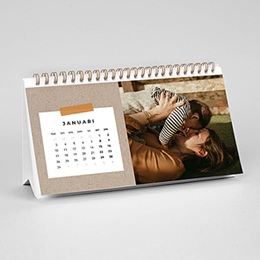 Burokalenders - Kraft & Foto's - 0