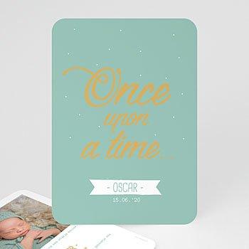 Geboortekaartje jongen - Once upon a Boy - 0