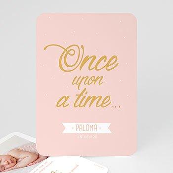 Geboortekaartje meisje - Once Upon a Girl - 0