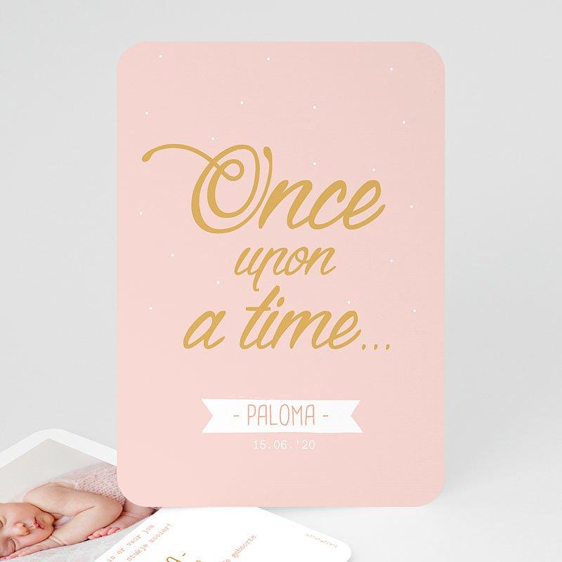 Geboortekaartje meisje - Once Upon a Girl 55577 thumb