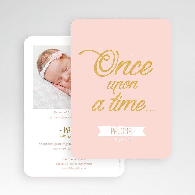 Geboortekaartjes Meisje Once Upon a Girl gratuit