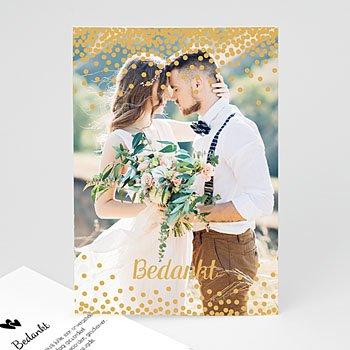 Bedankkaarten huwelijk met foto - Glitter rain - 0